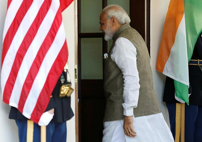 Prime Minister Narendra Modi at the WHite House in 2016