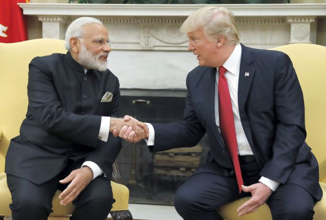 Trump calls for truce; Modi points at Imran's remarks
