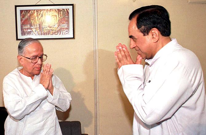 Jyoti Basu and Subramaniam Swamy