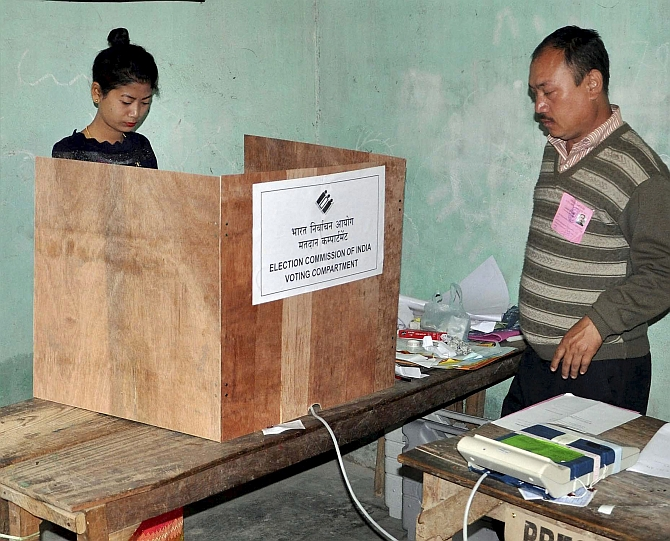 Record 84 pc turnout in first phase of Manipur polls