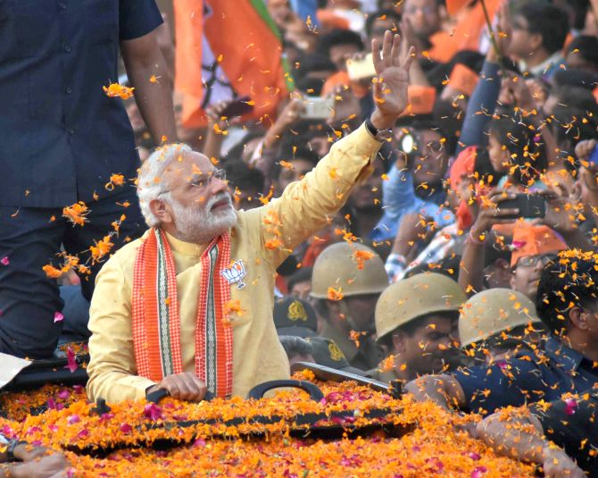 Opposition believes in 'kuch ka saath, kuch ka vikas': Modi in Varanasi