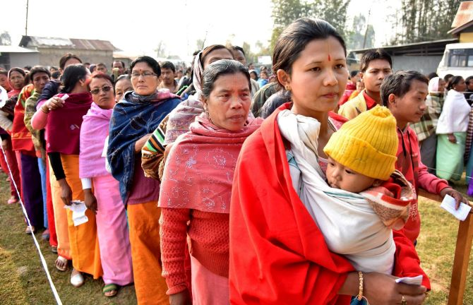 Record 86% turnout in last phase of Manipur polls