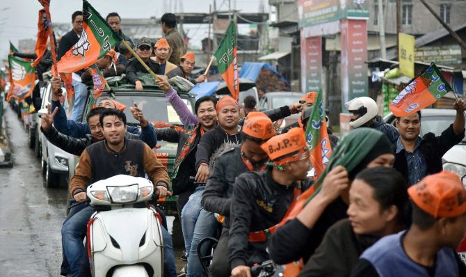 Hung verdict in Manipur, big gains for BJP