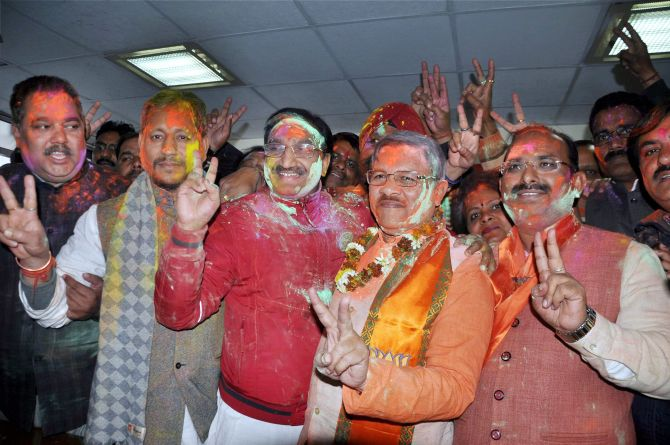 BJP sweeps Uttarakhand, wins 56 seats