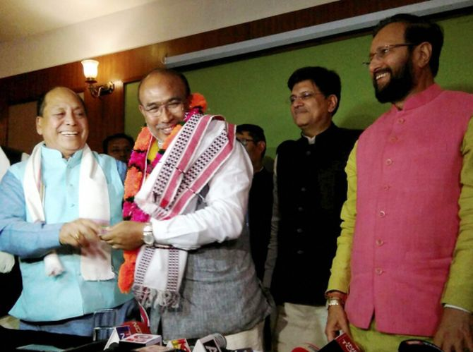 BJP's Biren Singh to take oath as Manipur CM tomorrow