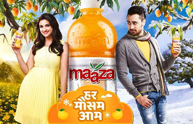 Parineeti Chopra and Imran Khan get flirty with Maaza