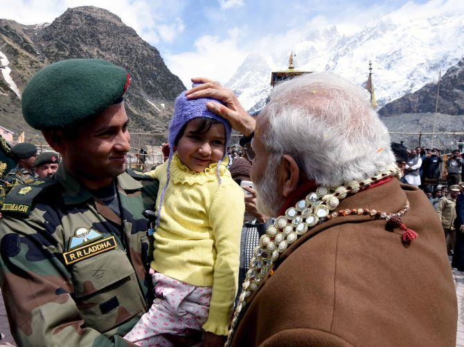 Narendra Modi during his trip to Kedarnath
