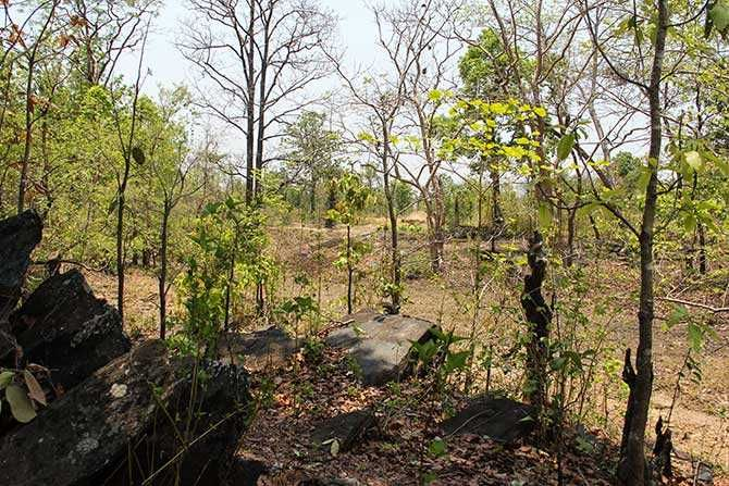 Dried blood is still visible on these rocks inside the jungle. Though the CRPF trains its jawans for ambushes inside a jungle like this but the Maoist cadre have the home advantage as they know these jungles better than their adversaries
