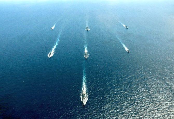PHOTOS: India-Singapore joint naval exercise