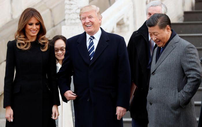 Trump arrives in China for wide ranging talks with Xi