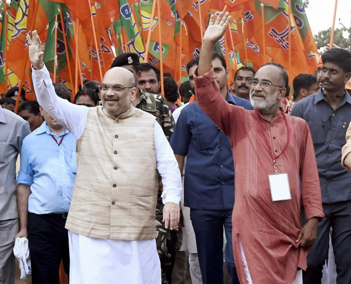 Amit Shah launches 'padyatra' against CPI-M in Kerala
