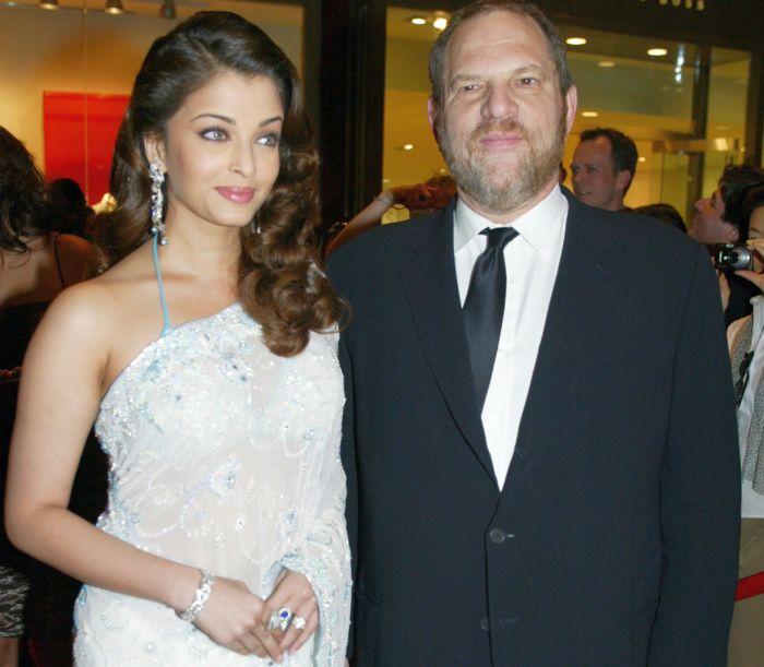 Aishwarya Rai with Harvey Weinstein at a Time magazine 100 most influential people dinner in 2005. Photograph: Jeff Christensen JC/Reuters