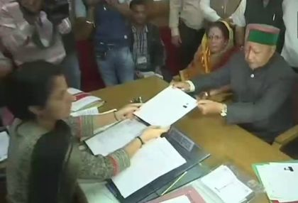 Virbhadra Singh files nomination from Arki constituency