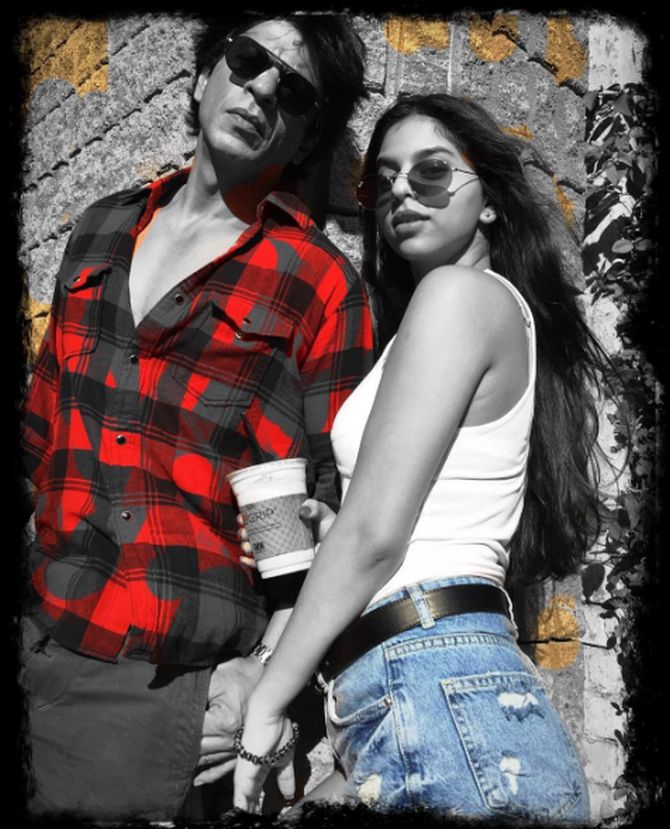 #InstaStories:Cute! Cute! SRK and Suhana