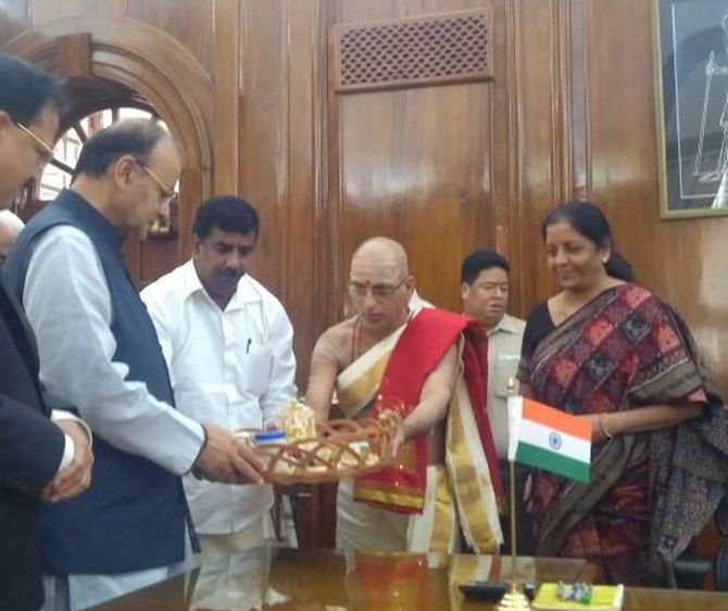 Defence Minister Nirmala Sitharaman takes charge