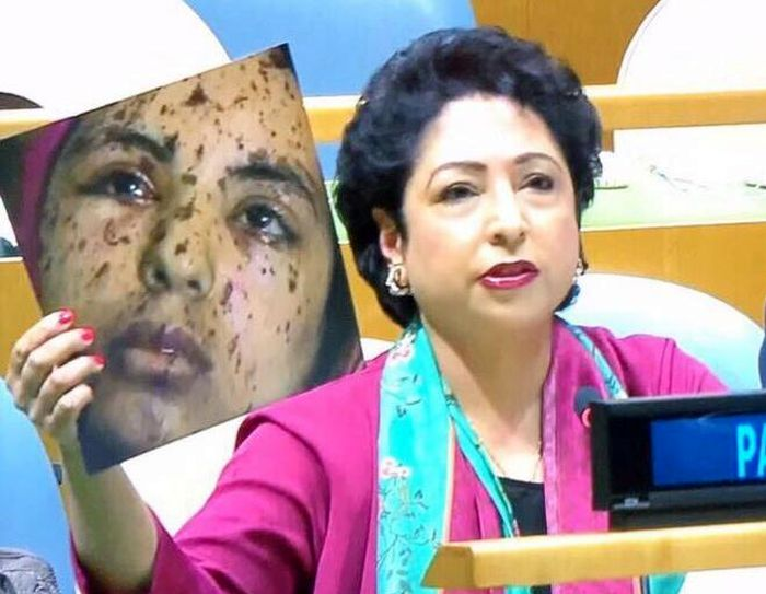 Pakistan's UN envoy tries to pass off Gaza image as Kashmir