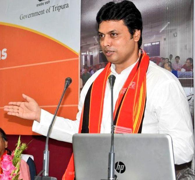Punjabis, Jats strong but have less brains: Tripura CM