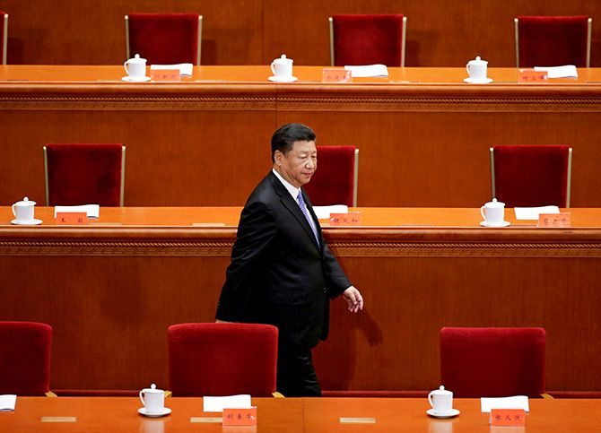 Xi Jinping arrives for an event commemorating the 200th birth anniversary of Karl Marx, Beijing, May 4, 2018. Photograph: Jason Lee/Reuters