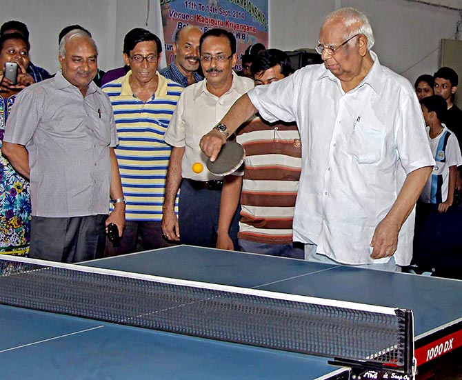 Somnath Chatterjee at the inauguration of All Bengal Table Tennis Championships 2014 at Birbhum