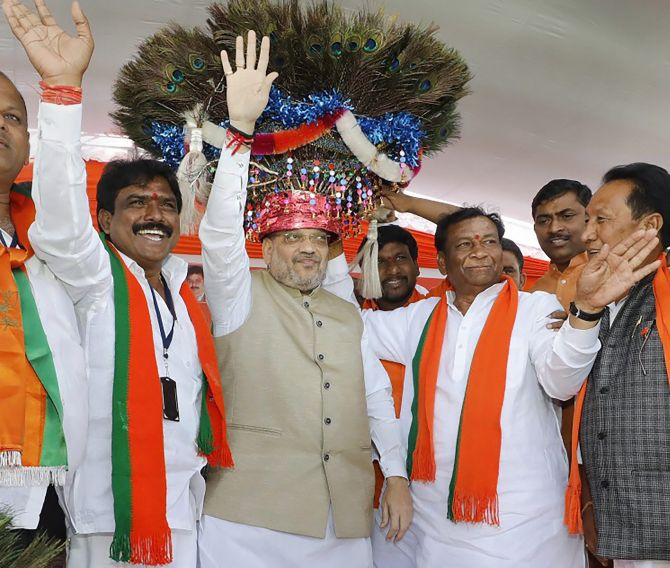 BJP, Congress, TRS step up poll campaign in Telangana