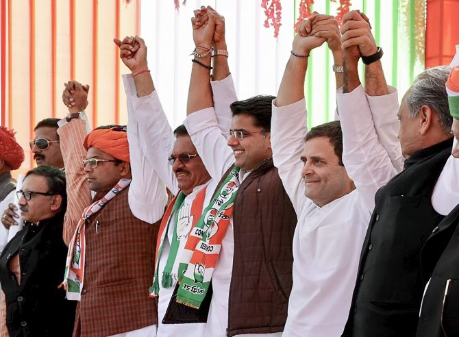 Exit polls: Cong takes Raj, tight race in MP, C'garh; TRS holds Telangana
