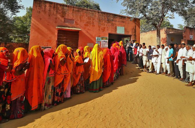 Polling booth in Rajasthan