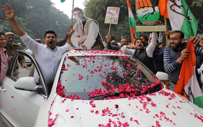'Rahul is the new rising sun': Reactions to poll results