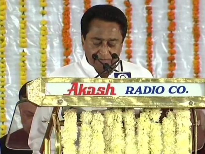India News - Latest World & Political News - Current News Headlines in India - Kamal Nath sworn in as 18th chief minister of Madhya Pradesh