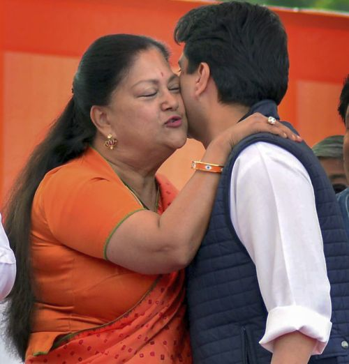 Photo of the day! Vasundhara and Jyotiraditya Scindia share warm hug