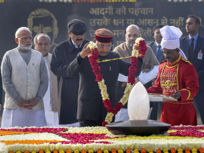 India News - Latest World & Political News - Current News Headlines in India - PHOTOS: Vajpayee's memorial inaugurated; Prez, PM offer floral tributes