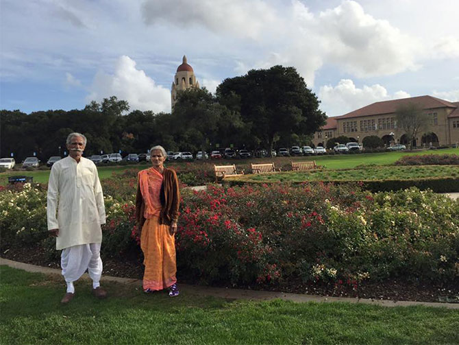 Maya Vishwakarma's parents in Stanford