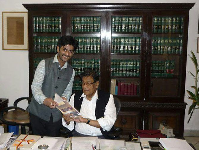 Advocate Kush Kalra with Attorney General K K Venugopalgal