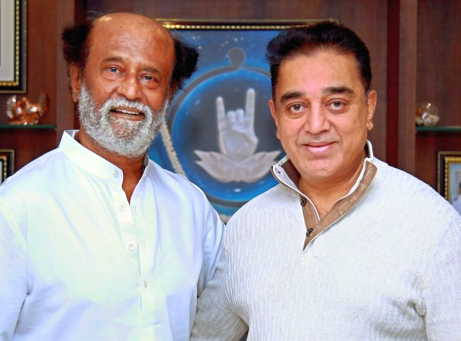 Rajini, Kamal hint at joining hands for TN's welfare