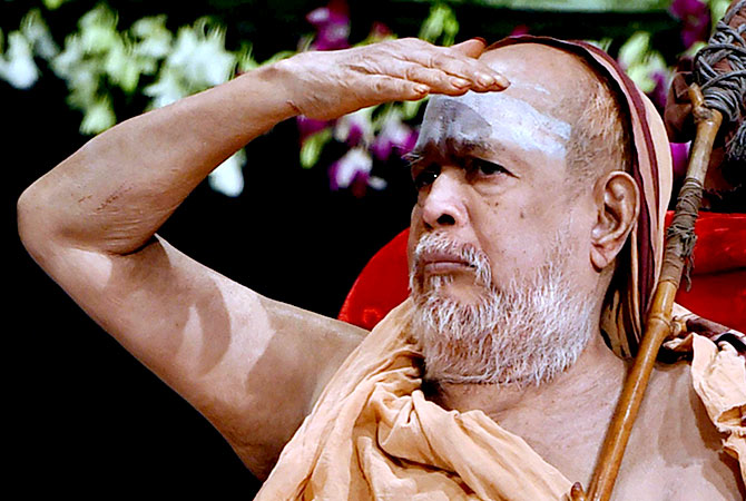 Jayendra Saraswati, the sankaracharya of Kanchi, who passed into the ages on February 28, 2018. Photograph: PTI