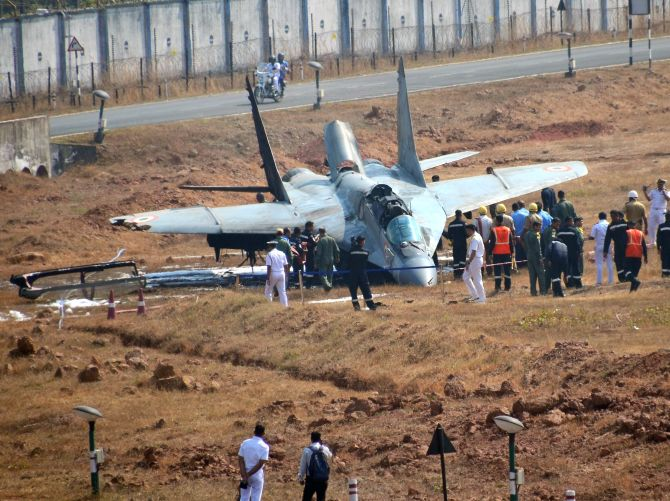 Navy's MiG-29K crashes off Goa coast, pilot safe