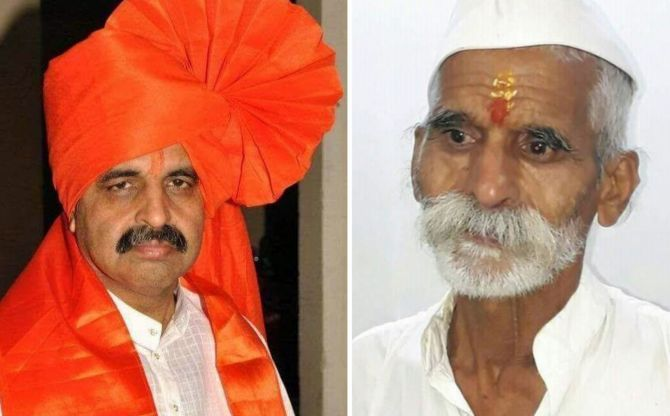 Milind Ekbote, left, and Sambhaji Bhide have been accused of instigating the violence in Maharashtra over the bicentenary celebration of the Bhima-Koregaon battle fought 200 years ago.