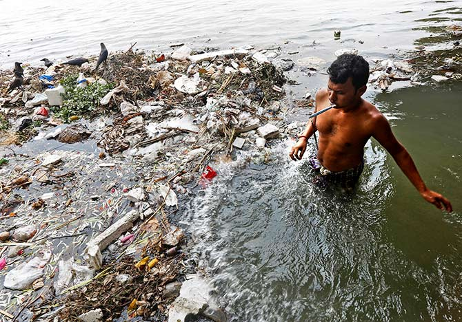 The polluted Ganga