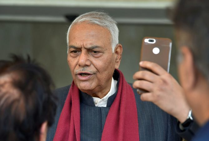 Not allowed out of Srinagar airport: Yashwant Sinha