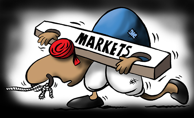 Sensex tanks over 334 points; Nifty tumbles below 12K
