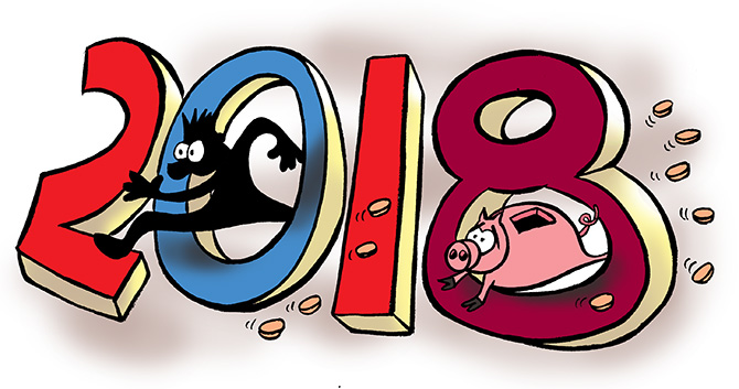 Investors become poorer by Rs 7.25 lakh cr in 2018