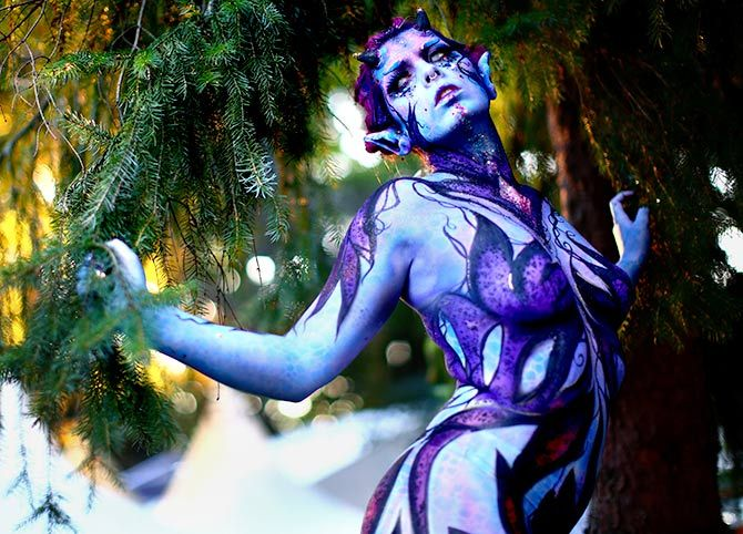 Photos Stunning Visuals Of World Bodypainting Festival In Austria Rediff Com India News