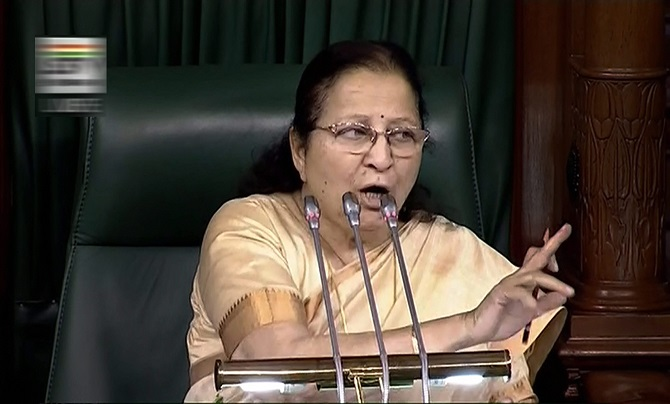 Sumitra Mahajan, Speaker of the 16th Lok Sabha