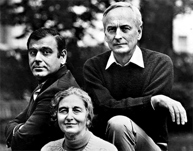 Ismail Merchant, James Ivory and Ruth Prawer Jhabvala collaborated on some of the most beloved films ever made. Photograph: Merchant Ivory Productions/Facebook.