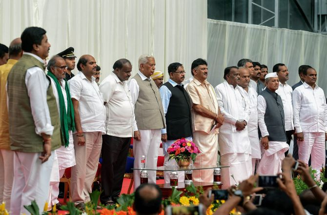 PHOTOS: Kumaraswamy expands cabinet amid heartburn