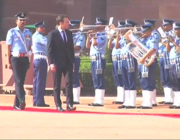 Macron At Rashtrapati Bhavan