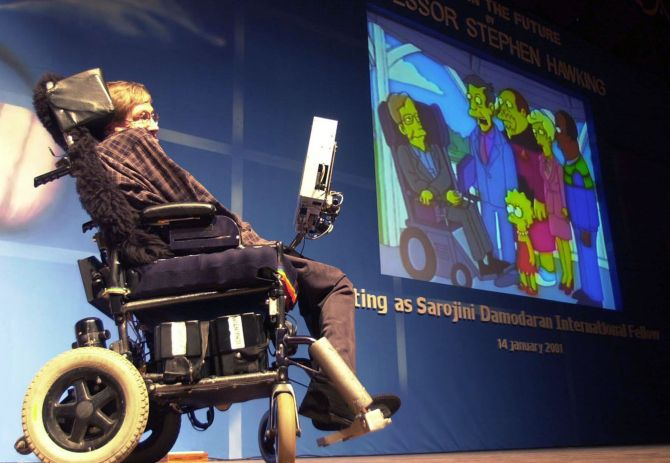 PHOTOS: When Hawking visited India - Rediff com India News