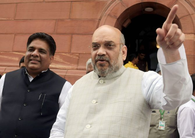 NDA ally forces Amit Shah to promise 'alliance dharma'