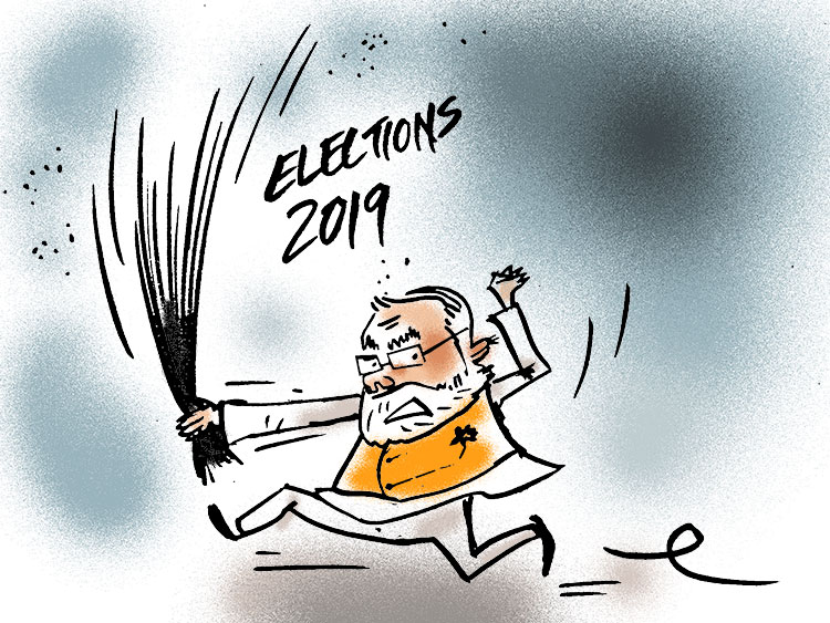 Is Modi more popular in 2019?