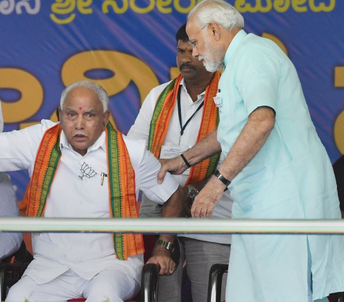 Modi-Shah face their first challenge in Yediyurappa