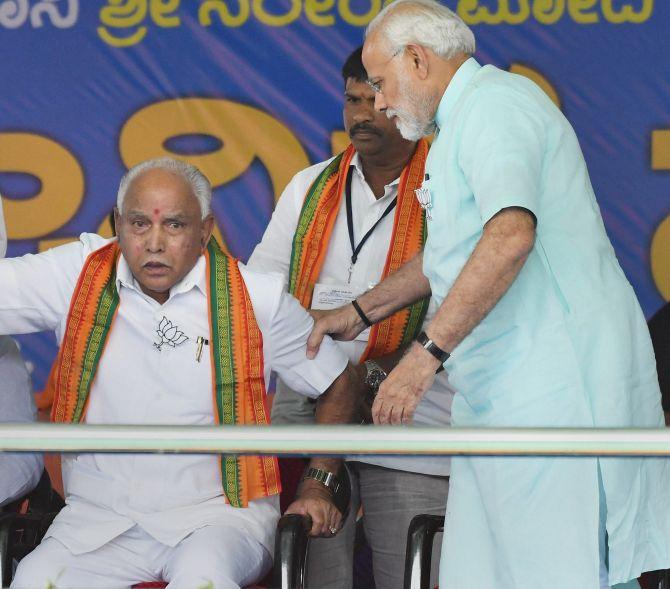 In Shikaripura, discussions centre around Yeddyurappa's 'fading glory'